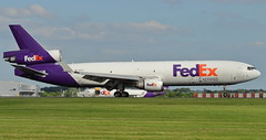 N591FE McDonnell-Douglas MD-11F Landing at London Stansted as FX2 from