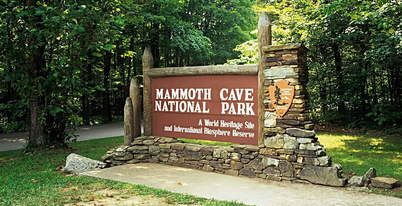 Mammoth Cave National Park entrance in Kentucky.