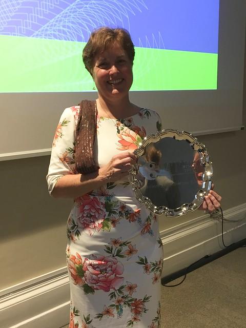 Kay Fountain, winner of Bath's 3MT® 2018 final.