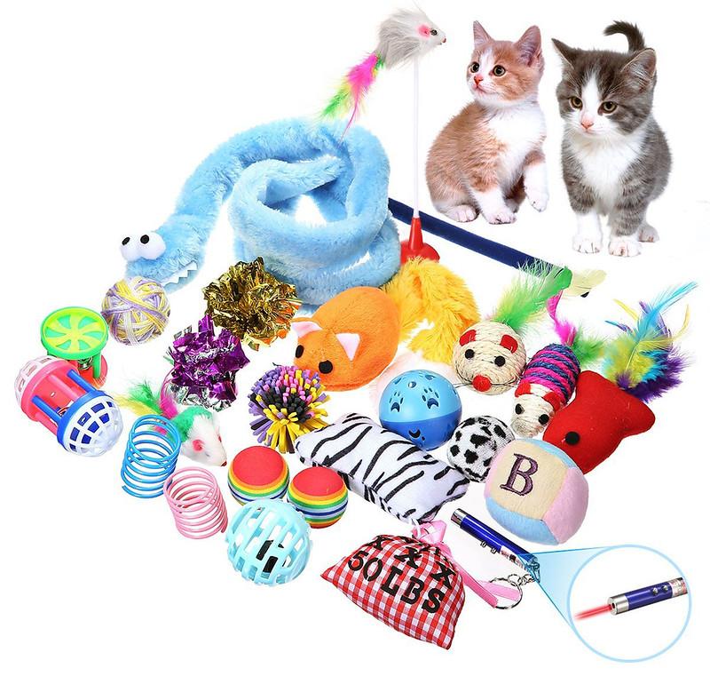 Clases de juguetes para gatos