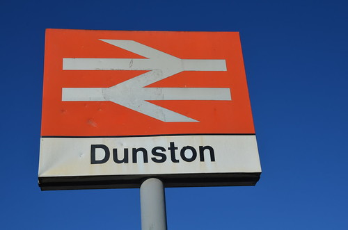 Dunston rail station sign June 18
