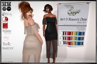 Sage- Isn't It Romantic Dress Base Set sign copy
