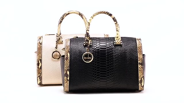 Snake Skin Genuine Leather Boston Shoulder Crossbody Bag