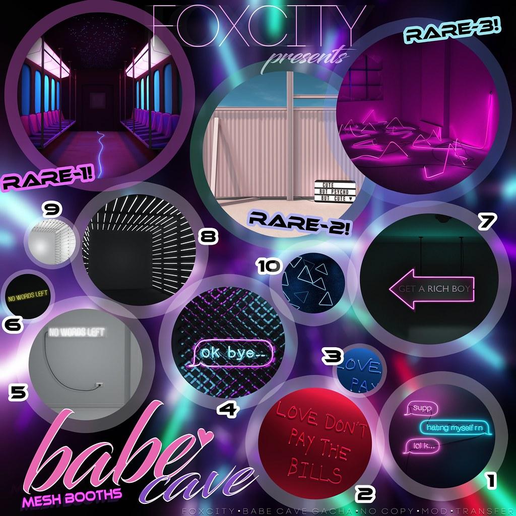 FOXCITY @ The Arcade - Babe Cave Gacha - TeleportHub.com Live!