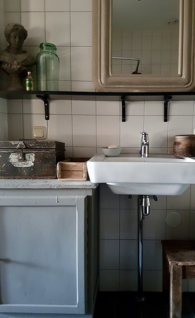 Badkamer landelijk brocante