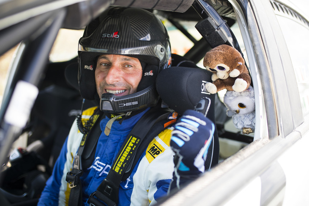 MELEGARI Zelindo (ita), CECCHI Andrea Marco (ita),  Mitsubishi Lancer EVO X, portrait during the European Rally Championship 2018 - Acropolis Rally Of Grece, June 1 to 3 at Lamia - Photo Gregory Lenormand / DPPI