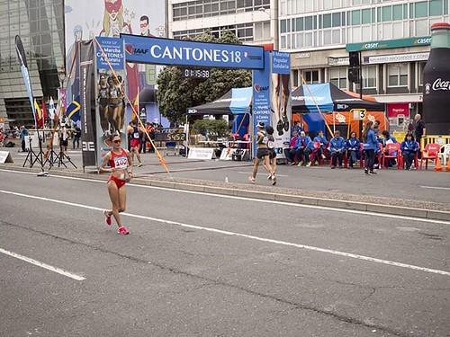 Gran Premio de marcha de los cantones. En primer plano la ganadora, Qieyang Shenjie. #Coruña #atletismo #marcha #olympus #olympusomd #qieyangshenjie #china