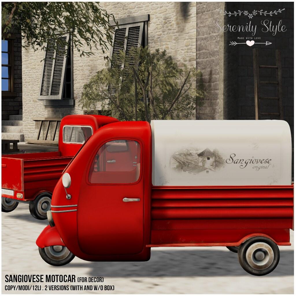 Serenity Style-Sangiovese Motocar - TeleportHub.com Live!