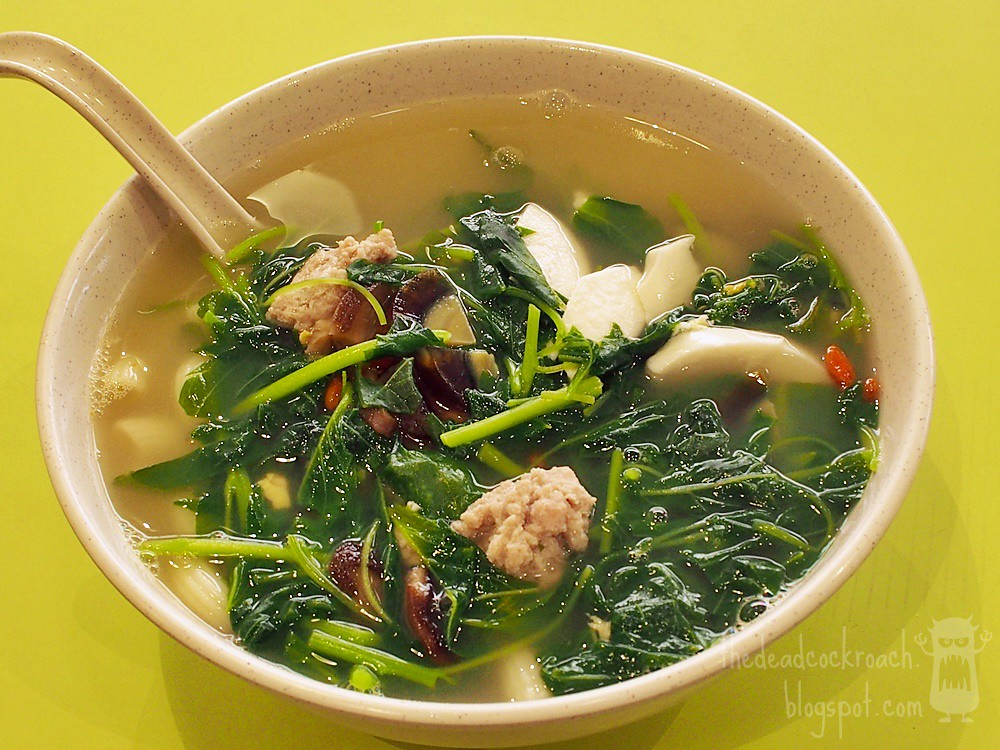 spinach & soup, spinach soup, food, food review, review, singapore, tanjong pagar, tanjong pagar plaza market and food centre