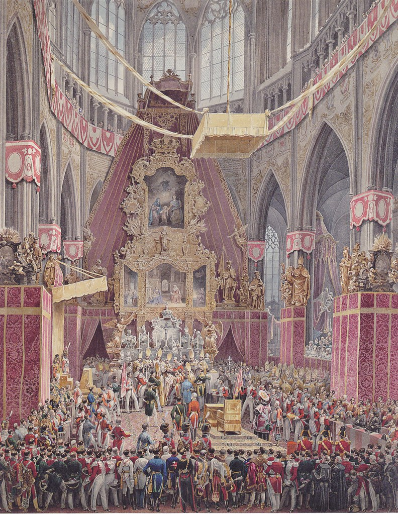 Eduard Gurk - Die Krönung Kaiser Ferdinands 1 im Dom zu Prag (c.1838)