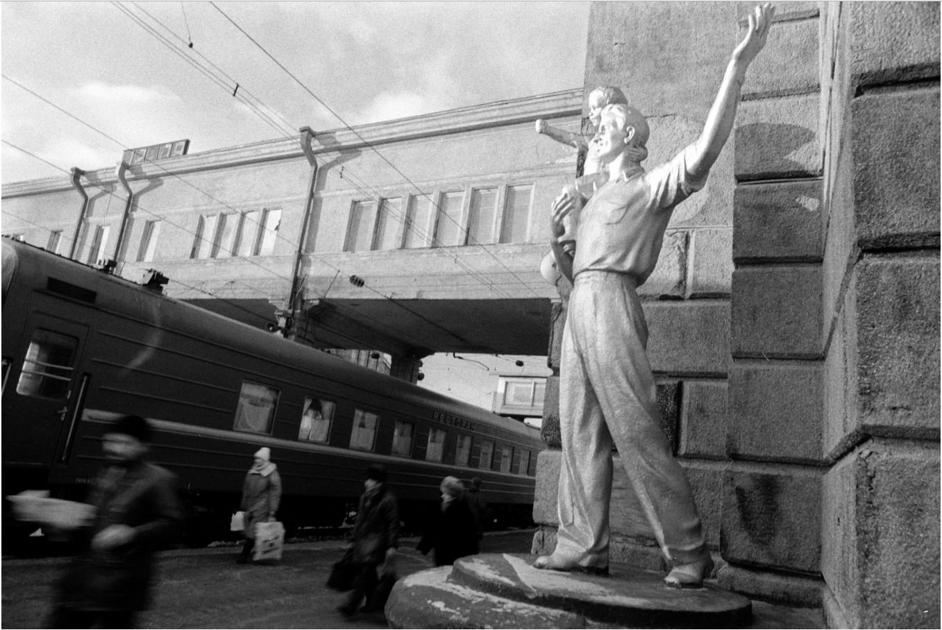 Новосибирск. На железнодорожной станции