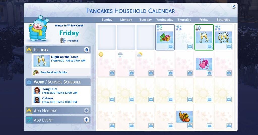 Foto de Imagem Completa do Calendário do The Sims 4 Estações