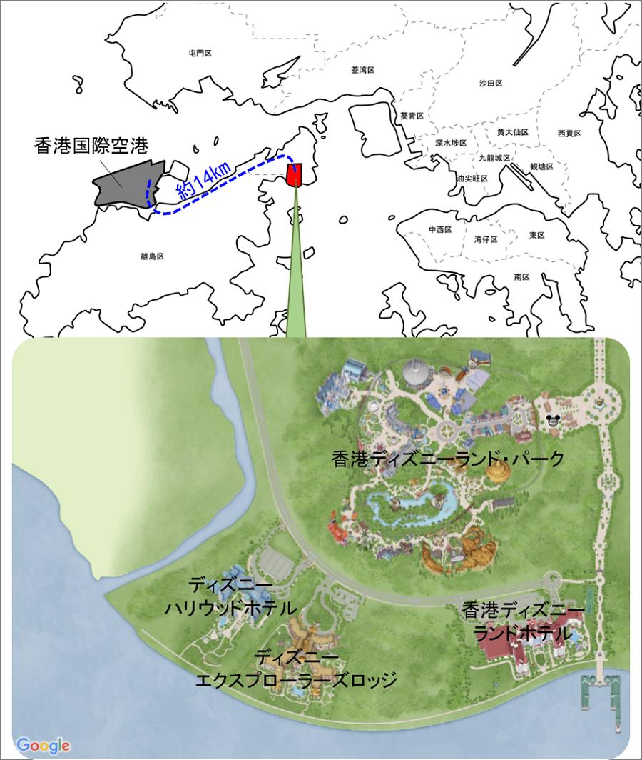 180610 香港ディズニーランドリゾート地図