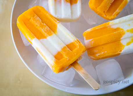 Mango Yogurt Popsicles Recipe by GoSpicy.net