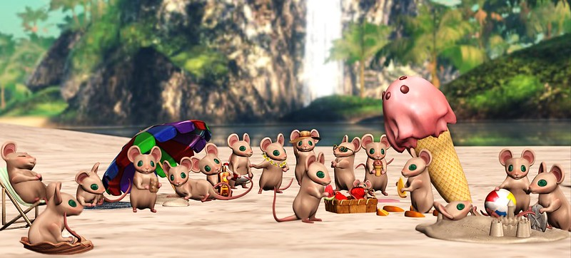 Mice day on the beach