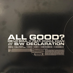 DE LA SOUL:ALL GOOD?(JACKET B)