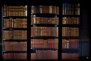 British library bookshelves
