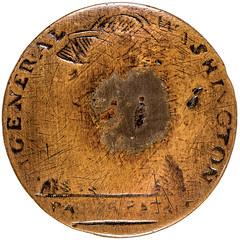 "Washington - Pater Patriae"" Inaugural Button front"