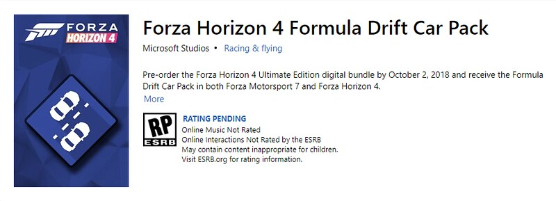 FH4 Editions and DLC List - Forza Horizon 4 Discussion