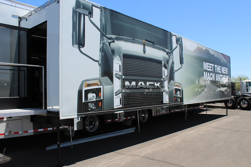 Mack Anthem Exhibit Trailer