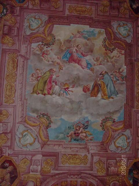 Ferrara_-_S._Antonio_in_Polesine_-_La_chiesa_esterna_-_soffitto