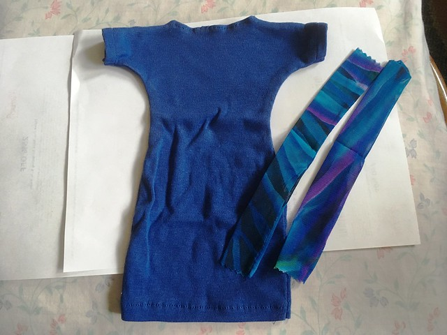 blue hand sewn dress with possible leggings 5 Lishe sized
