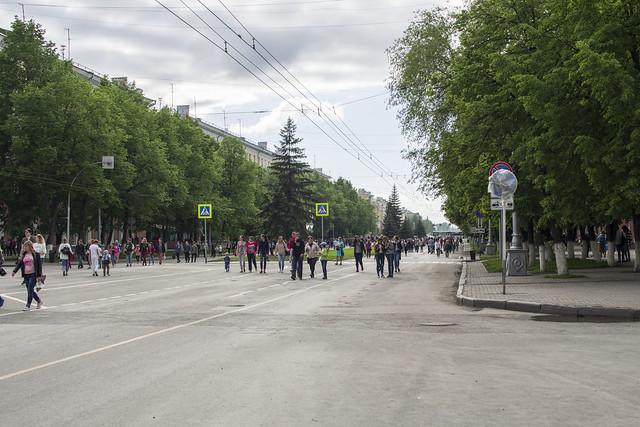 Советский проспект в праздник только для пешеходов., RICOH PENTAX K-1, Sigma 50-500mm F4.5-6.3 DG OS HSM