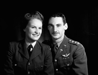 Portrait of Capt. Lionel Guy D'Artois and his wife, Sonya Butt (British Army, Special Operations Executive [SOE])... / Le capitaine Lionel Guy D'Artois et son épouse Sonya Butt, Londres (Angleterre)... les services secrets britanniques (<i>Special Op