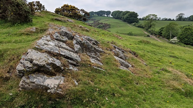 Exposed rock on South Down Spur