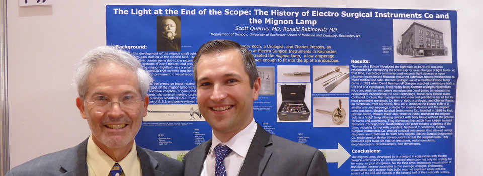 Dr. Ronald Rabinowitz, Scott Quarrier with poster
