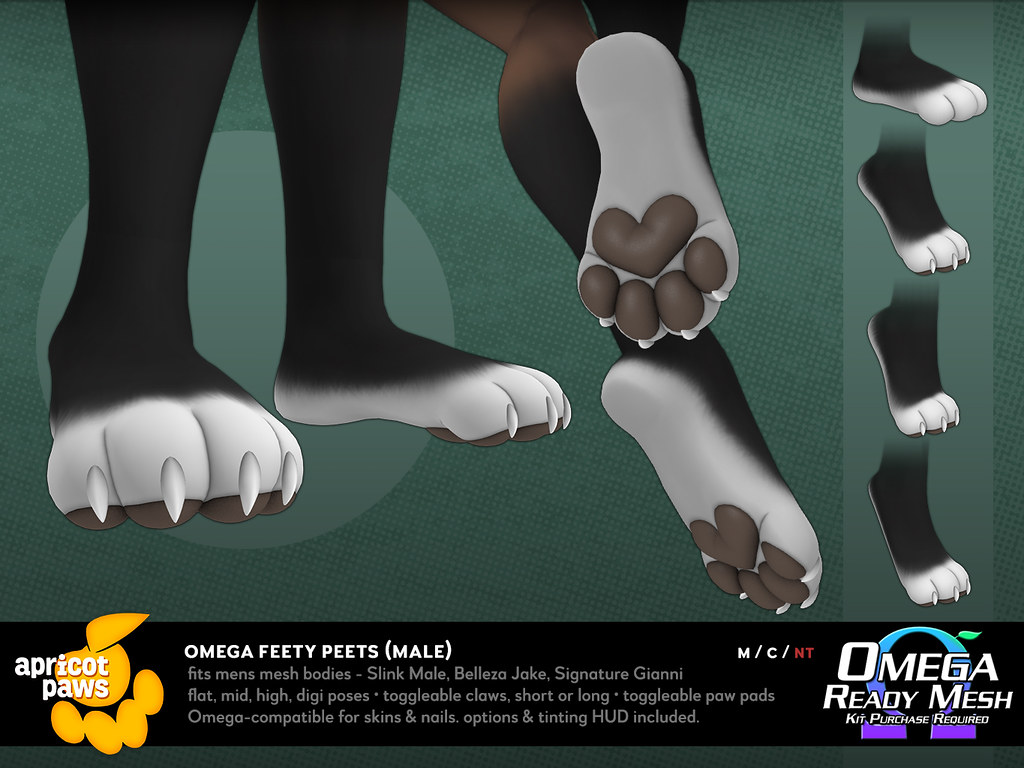 Omega Feety Peets (Mens) | Version for Slink Male, Belleza J