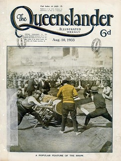 Illustrated front cover from The Queenslander, August 10, 1933