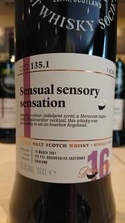 SMWS 135.1 - Sensual sensory sensation