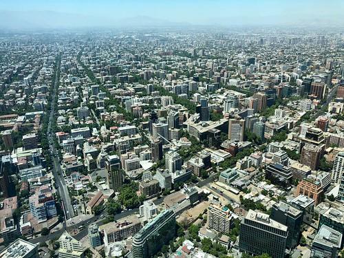 chile santiago city ciudad aerial cityscape skyline urban downtown southamerica southernhemisphere metropolis