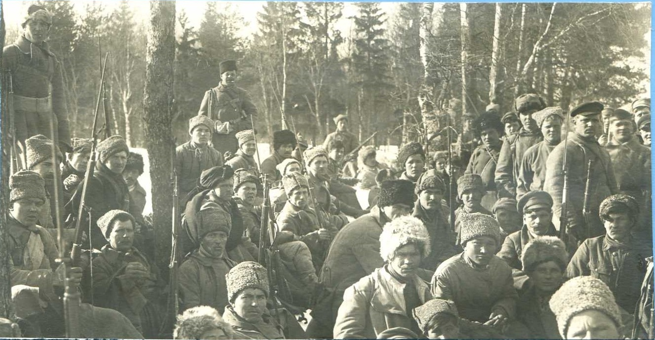 1921. Группа бойцов Минского полка. Кронштадский мятеж
