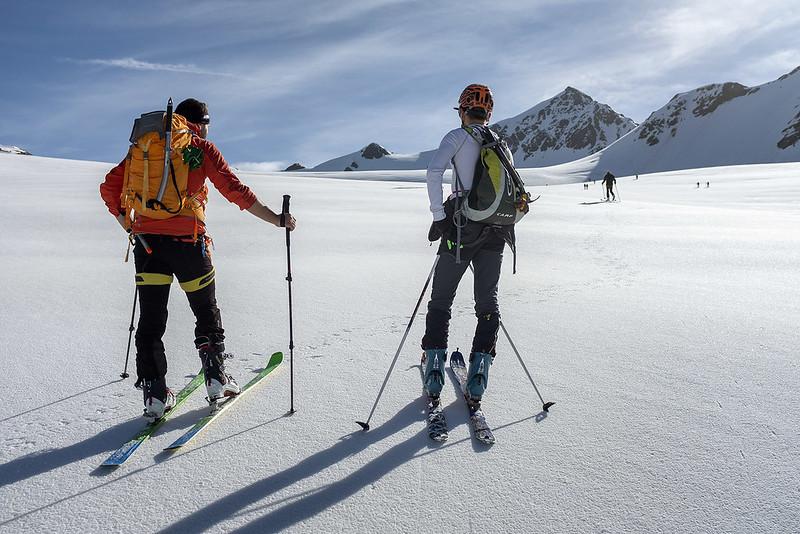 Scialpinismo al San Matteo dal Gavia: il tratto facile sul Ghiacciaio Dosegù