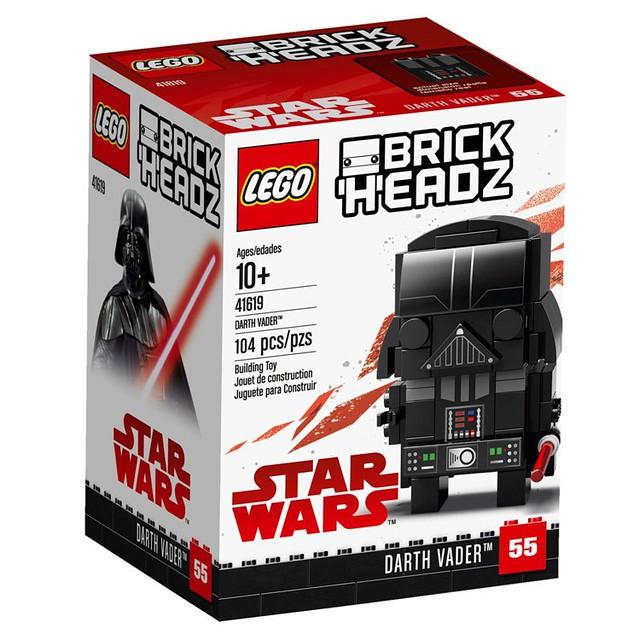 恐怖的帝國元帥和忠誠的風暴兵終於大頭化!!LEGO 41619、41620 BrickHeadz 系列 星際大戰【達斯·維德、帝國風暴兵】Darth Vader、Stormtrooper