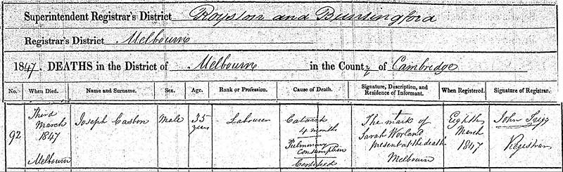 death reg 1847