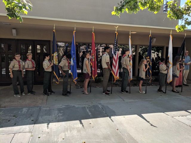 2018-05-28 Memorial Day Color Guard at St Barts