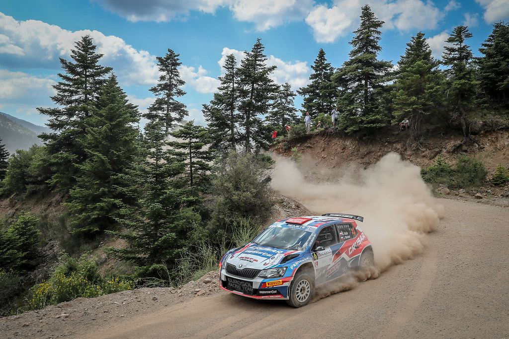 04 Grzyb Grzegorz , WORBEL Jakub, Candido Carrera I20 Hyundai Motor Espana, action during the European Rally Championship 2018 - Acropolis Rally Of Grece, June 1 to 3 at Lamia - Photo Alexandre Guillaumot / DPPI