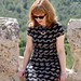 Capital Chic Patterns Sangria Dress