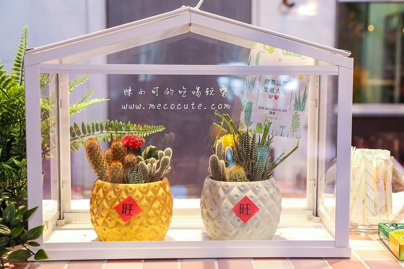 入厝送禮,多肉盆栽,有肉 Succulent & Gift,網路訂花,開幕花籃 @陳小可的吃喝玩樂