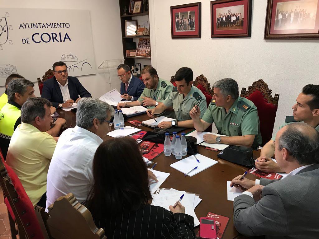Coria prepara su dispositivo de seguridad para las Fiestas de San Juan 2018