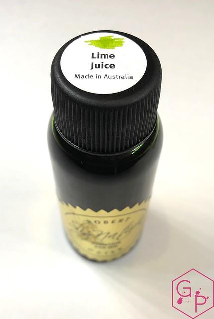 @RobertOsterInk Lime Juice Ink Review @MilligramStore 7
