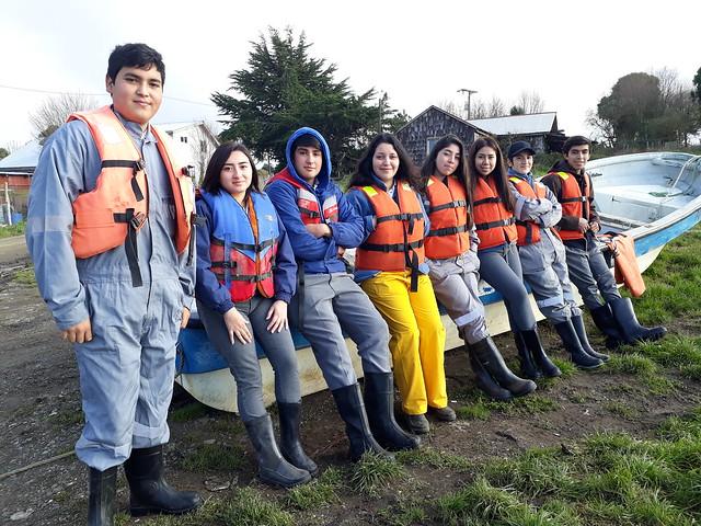 4° Año de acuicultura visita centro de mitílidos