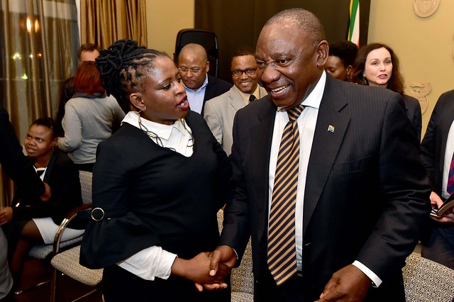 President Cyril Ramaphosa meets, Nikon D4S, Zoom-Nikkor 1200-1700mm f/5.6-8 P ED IF