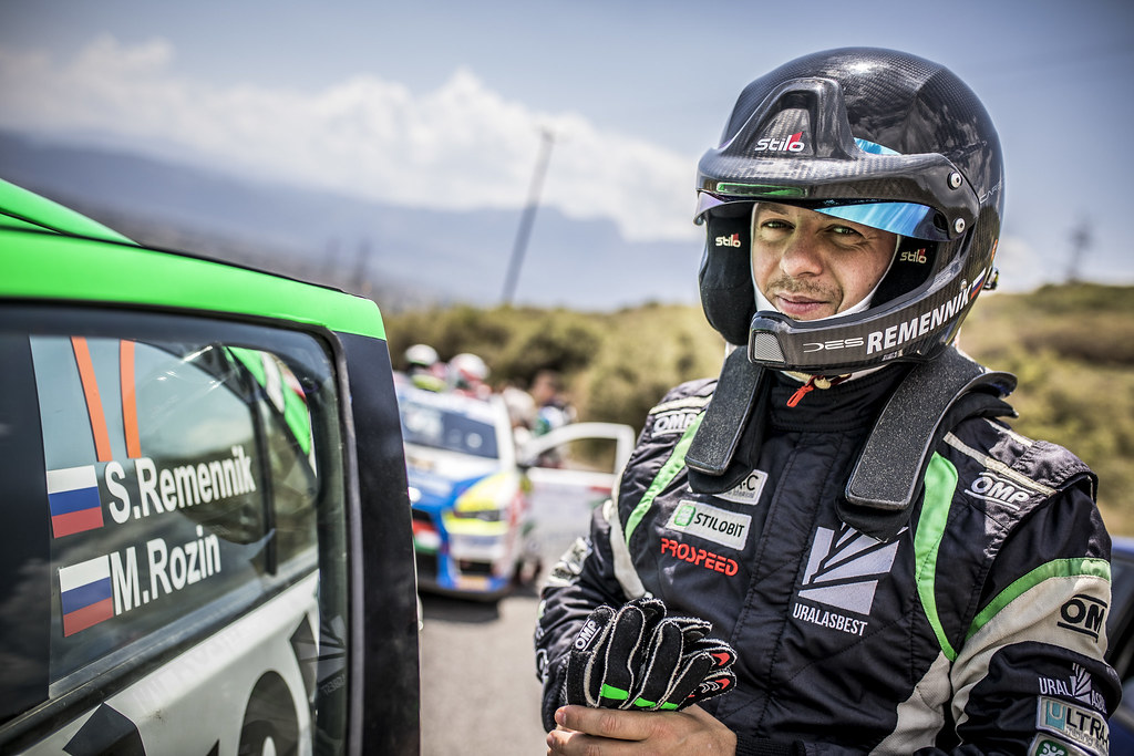 REMENIK Sergei, ROZIN Mark, Mitsubishi Lancer EVO X, portrait during the European Rally Championship 2018 - Acropolis Rally Of Grece, June 1 to 3 at Lamia - Photo Gregory Lenormand / DPPI