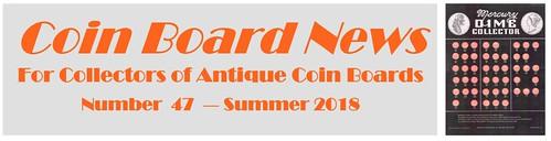 Coin Board News Summer 2018 masthead