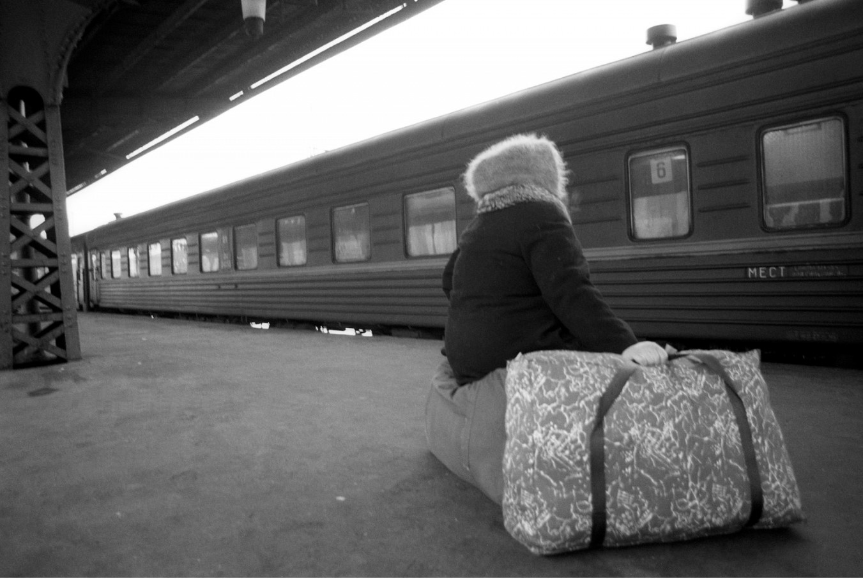 Санкт-Петербург. Платформа железнодорожной станции