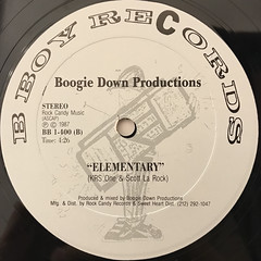 BOOGIE DOWN PRODUCTIONS:POETRY(LABEL SIDE-B)